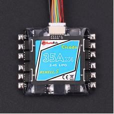 Sunrise Model Cicada BLHeli-S 35A BB2 4 in 1 (2-4S) ESC