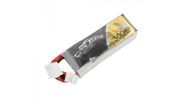 Tattu 300mAh 75C 7.6V HV (4,35V) Lipo Pack (JST-PH)