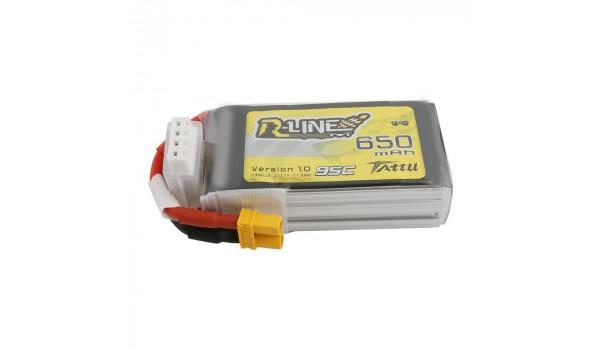 Tattu R-Line 650mAh 3s 95c LiPo Pack (XT30)