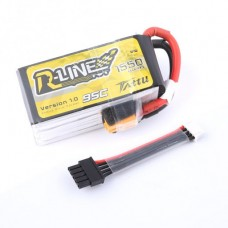 Tattu R-Line 1550mAh 4s 95C 14.8V LiPo Pack with Detachable Balance Cable
