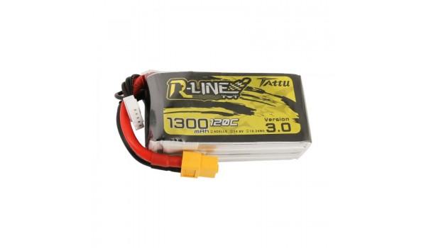 Tattu R-Line Version 3.0 1300mAh 4s 120c LiPo Pack (XT60)