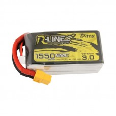 Tattu R-Line Version 3.0 1550mAh 4s 120c LiPo Pack (XT60)