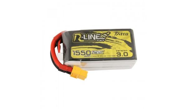 Tattu R-Line Version 3.0 1550mAh 4s 120c LiPo Pack (XT60)