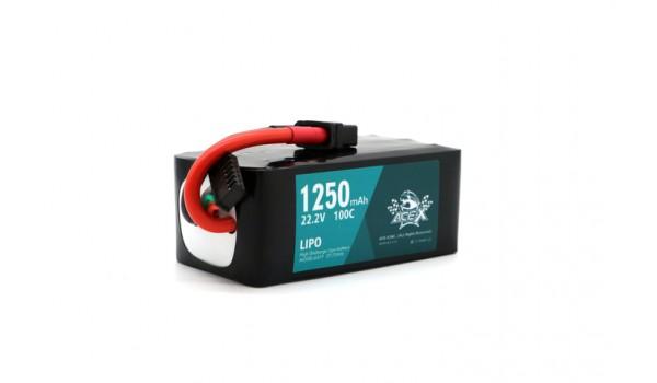 Acehe Ace-X 1250mah 6s 22.2v 100-200c Lipo (XT60)