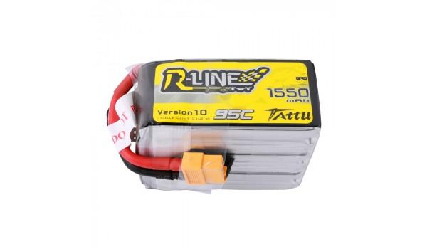 Tattu R-Line 1550mAh 6s 95c LiPo Pack (XT60)