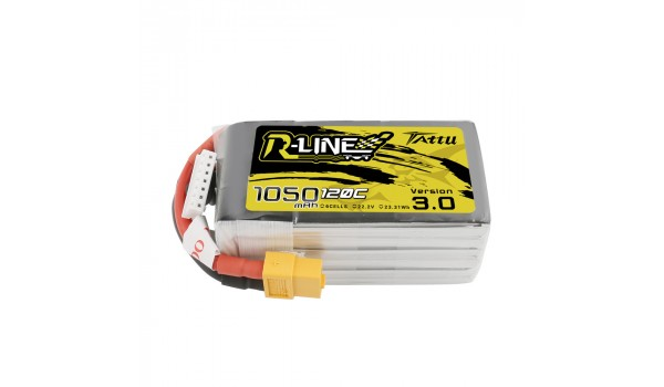 Tattu R-Line Version 3.0 1050mAh 6s 120c LiPo Pack (XT60)