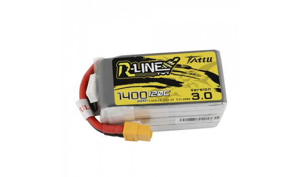 Tattu R-Line Version 3.0 1400mAh 6s 120c LiPo Pack (XT60)