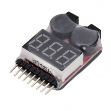 Lipo Battery Voltage Tester 1-8S Buzzer alarm