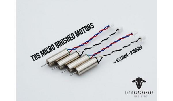 TBS micro Brushed motors 6x17mm 21000KV (4gab)