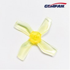 Gemfan 1.2X2X4 31mm Clear Yellow Props (1.0mm hole) 4CW+4CCW