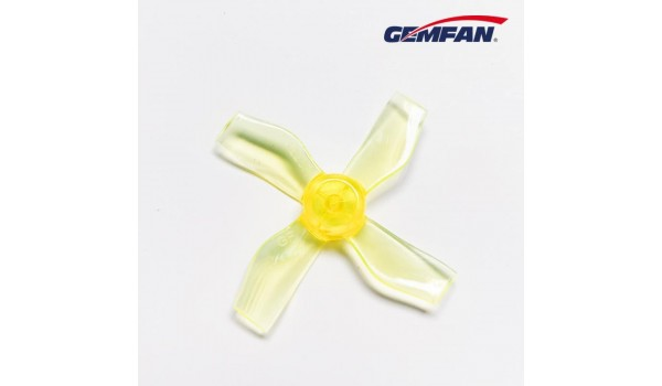 Gemfan 1.2X2X4 31mm Clear Yellow Props (1.0mm hole) 4CW+4CCW