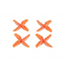 HQ 1.2x1.3x4 Orange ABS Whoop Propeller 1mm 2CW + 2CCW