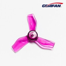 Gemfan 1.2X1.9X3 31mm Clear Purple Props (1.0mm hole) 4CW+4CCW