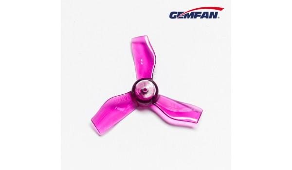 Gemfan 1.2X1.9X3 31mm Clear Purple Props (1.0mm hole) 4CW+4CCW