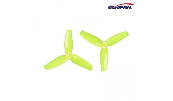 Gemfan Flash 2540 3-blade Yellow Props 3 holes PC 4CW+4CCW