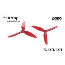 HQ 5.1X3.1X3 Light Red PC 2CW + 2CCW - POPO