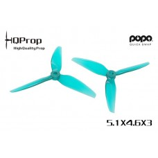 HQ 5.1X4.6X3 Light Teal PC 2CW + 2CCW - POPO