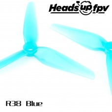 HQProp HeadsUp Racing Prop R38 Blue 2CW + 2CCW