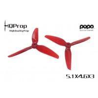 HQ 5.1X4.6X3 Light Red PC 2CW + 2CCW - POPO