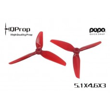 HQ 5.1X4.6X3 Light Red PC 2CW + 2CCW - POPO
